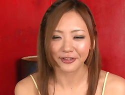 Lovely Japanese angel achieves hawt orgasm from nasty sex