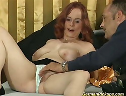 chubby redhead picked up for her first-ever porn video