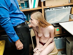 ShopLyfter - Super-cute Teen Caught Stealing Blows LP Officer