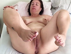 Unexperienced Mature pregnant Housewife 51 years Squirting