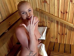 Point of view Sauna Blowjob Makes Kathia Nobili Suck Loads Of Sperm