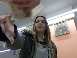 Czech Pawn Shop - Young Woman Enjoys to Swallow
