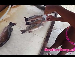 Another day out fishing with asian thai teen heather deep