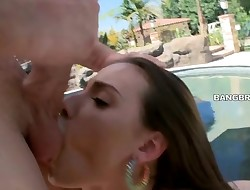 Charming beauty is total of delights from stud's anal banging